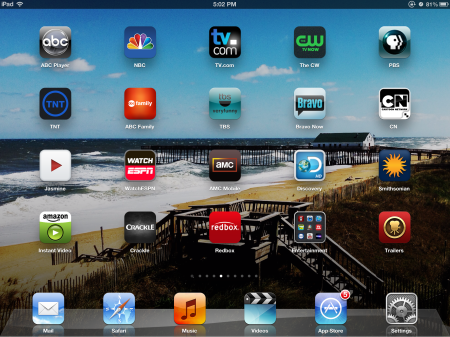 TV & Movie Apps Screenshot on iPad 3