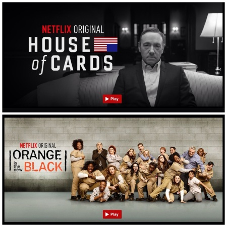 Netflix House of Cards and Orange is the New Black