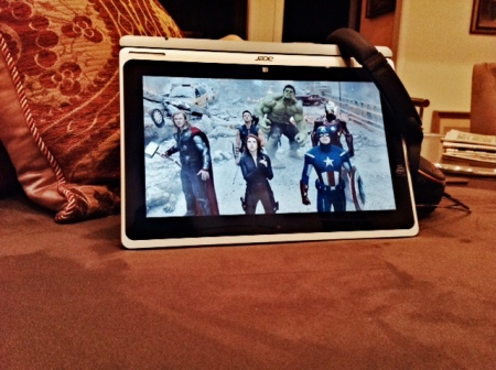 Acer Aspire Switch 10 Showing Avengers